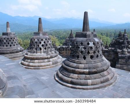 Borobudur temple  - stock photo