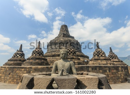 Borobudur temple,Indonesia - stock photo