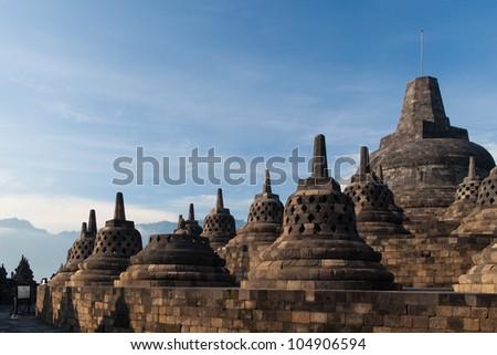 Borobudur Temple, Yogyakarta, Java, Indonesia. - stock photo