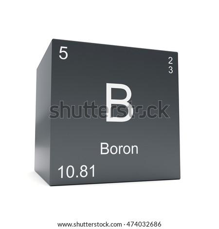 Boron Chemical Element Symbol Periodic Table Stock Illustration