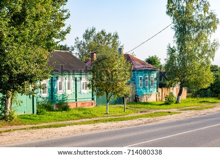 BOROVSK, RUSSIA - SEP. 2017: Urban streets and houses, historical buildings of Borovsk