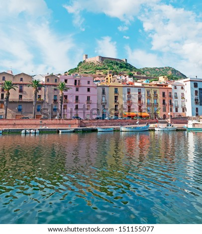 Bosa by the river, Sardinia