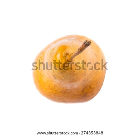 Bosc pear fruit over background