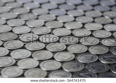 Bosnian money background - stock photo