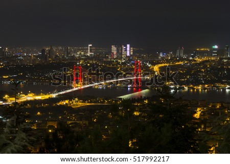 Bosphorus Bridge night view
