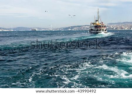 Bosphorus Strait in Istanbul - stock photo