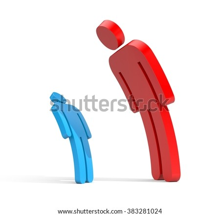 Boss and subordinate - stock photo