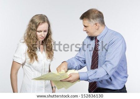 Boss is upset with his employee for bad report