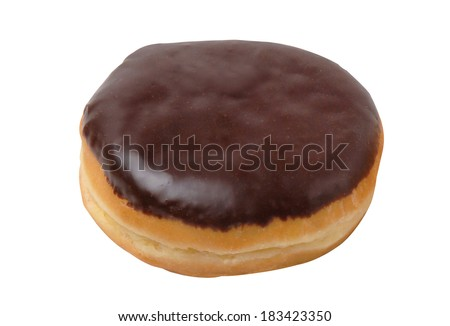 Boston cream donuts isolated on a white background - stock photo