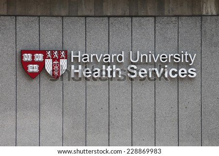 BOSTON, MA - CIRCA NOVEMBER 2014 - Harvard University Health Services is one of many U.S. medical facilities equipped to treat this year's cold and flu season.