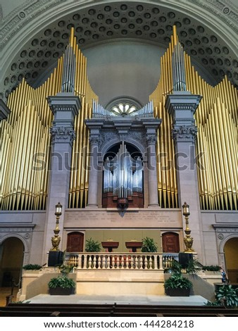 Boston, MA - 19th June 2016 - First Church of Christian Science organ