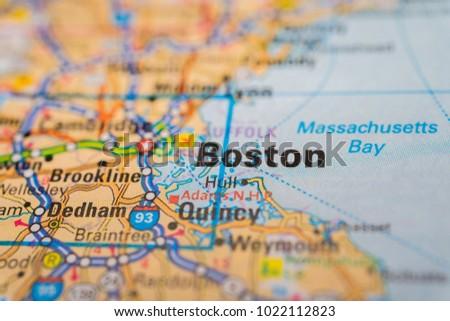 Boston On USA Map Stock Photo (Royalty Free) 1022112823 - Shutterstock