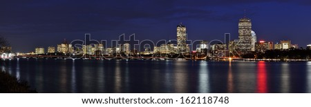 Boston panoramic - stock photo