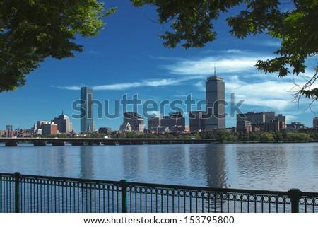 Boston Skyline 4 - stock photo