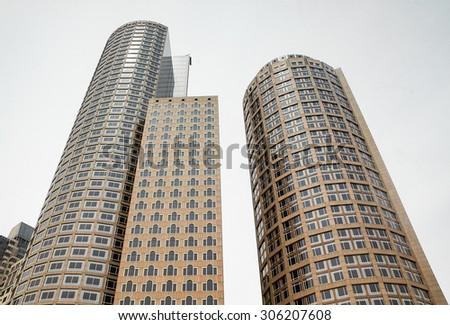 Boston Skyline - stock photo