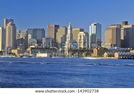 Boston skyline, Massachusetts - stock photo
