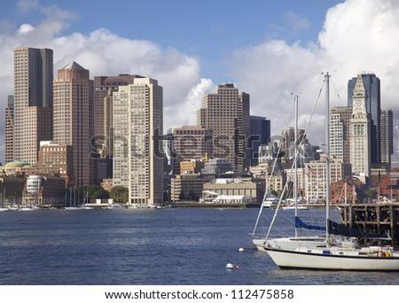Boston skyline, Massachusetts, USA - stock photo