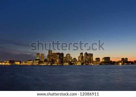 Boston Sunset Skyline
