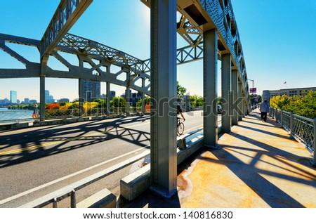 Boston University Bridge - stock photo