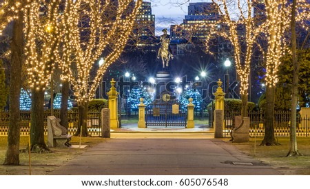 Boston commonwealth christmas lights stock images royalty free boston usa january 10 christmas lights at the boston commons along the way sciox Images