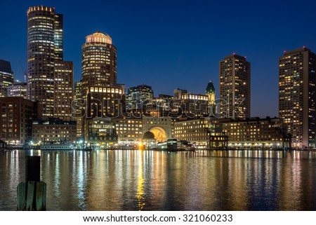 Bostons waterfront at Rowes Wharf
