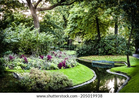 Botanical Garden detail in Nantes, France - stock photo