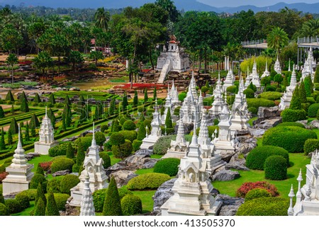 Botanical Garden in Pattaya Nong Nooch - stock photo