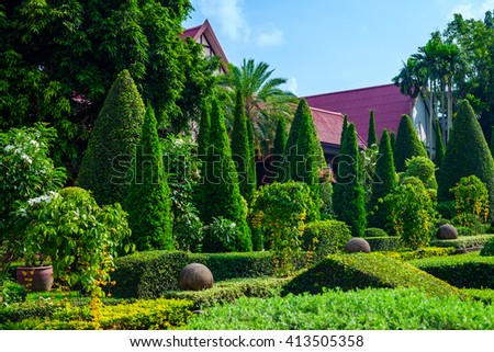 Botanical Garden in Pattaya, Thailand - stock photo