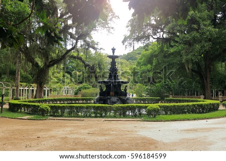 BOTANICAL GARDEN RIO DE JANEIRO BRAZIL Stock Photo (Download Now ...