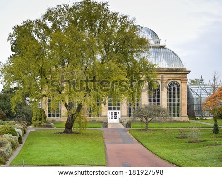 Botanical Gardens, Edinburgh, Scotland - stock photo