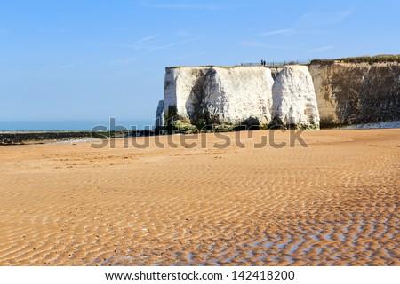 Botany Bay beach at Broadstairs on the Kent Coastline England UK - stock photo