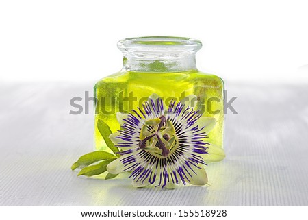 botany -passion flower  essential oil - stock photo