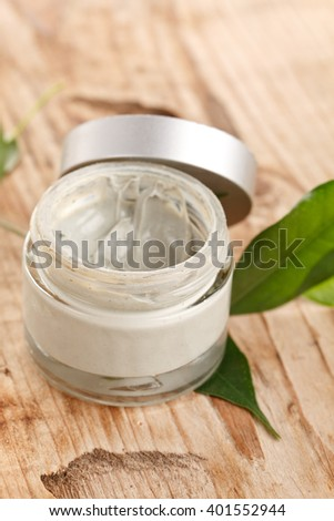 botte of organic cream - stock photo