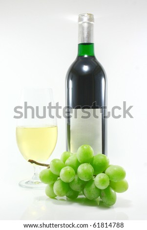 Bottle and glass of wine