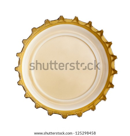 bottle cap isolated on white