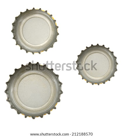 Bottle cap isolated on white  - stock photo