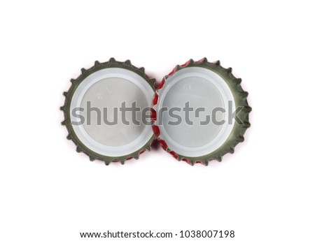 bottle cap isolated on white, top view