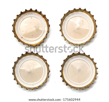bottle cap with a beer. macro