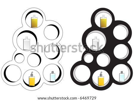 bottle display stand - stock photo