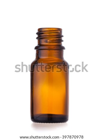 bottle for essential oil - stock photo