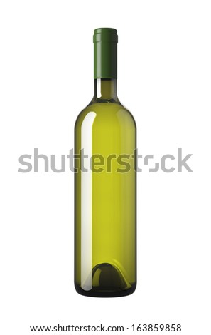 bottle green, on a white background. - stock photo