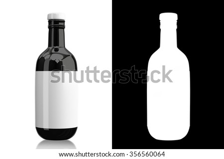 Bottle in the white background and include alpha channel