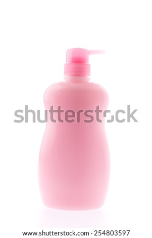 Bottle lotion isolated on white