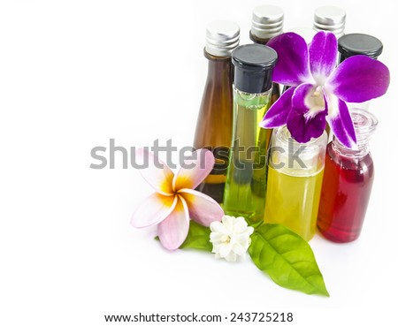 Bottle of aromatherapy - stock photo