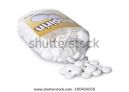 Bottle of Aspirin - stock photo