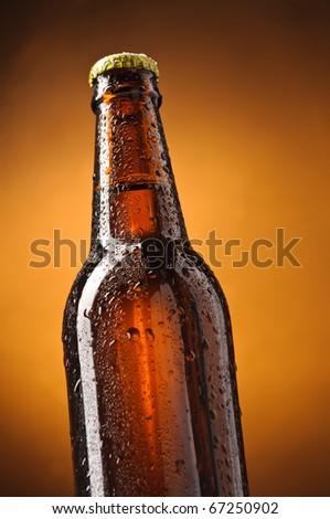 Bottle of beer - stock photo