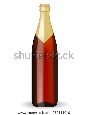 Bottle of beer   isolated on white background. Raster version - stock photo