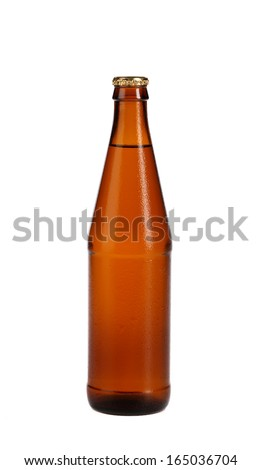 Bottle of beer isolated on white. Isolated on a white background.