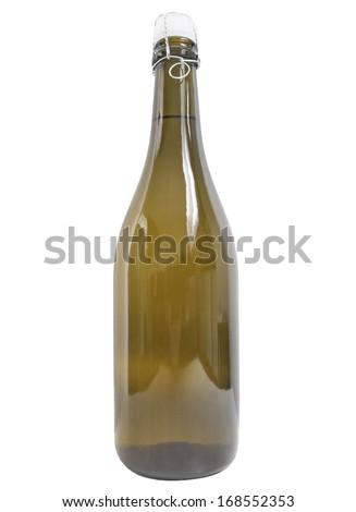 Bottle of champagne isolated over white background