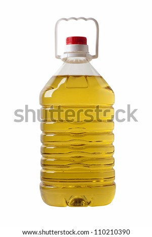Bottle of cooking oil - stock photo